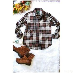 🍂🍁Ralph Lauren Green lable plaid shirt - P small